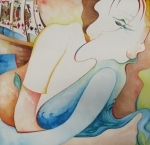 SWIMSUITS 2014  2' x 2' watercolour
